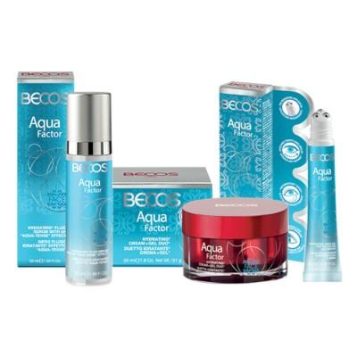 Aqua Factor- Crema Duetto +siero-fluido & Gel Occhi-labbra Idratazione Intensa