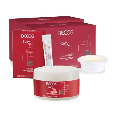 Body Fit Professional- Mask(10) Cellulite  & Siero(10) +crema 400ml Tonificante